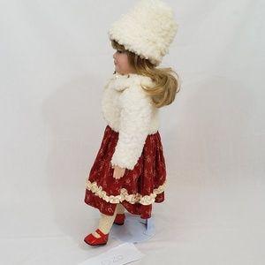 "Yoko Designs Accents - Yoko Designs 18"" Porcelain Girl In Winter Dress"
